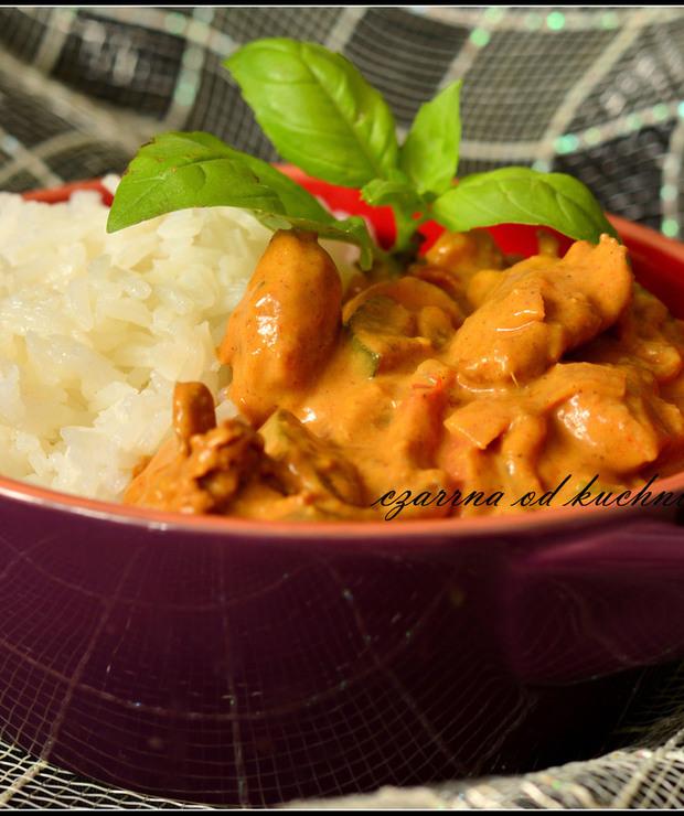Curry z ryżem jaśminowym - Drób