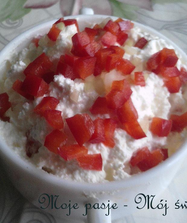 Paprykowa pasta twarogowa - Na zimno