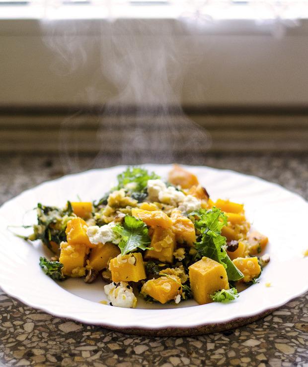 Jesienna zapiekanka: dynia, jarmuż, soczewica - Warzywa
