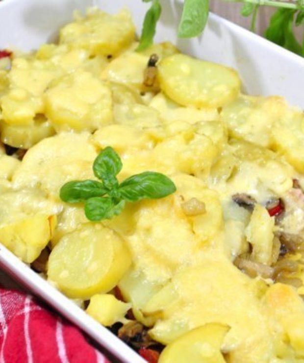 Zapiekanka ziemniaczana z pieczarkami - Warzywa