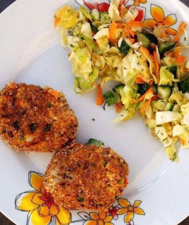 Kotlety z kaszy jaglanej, marchewki i szczypiorku - Warzywa