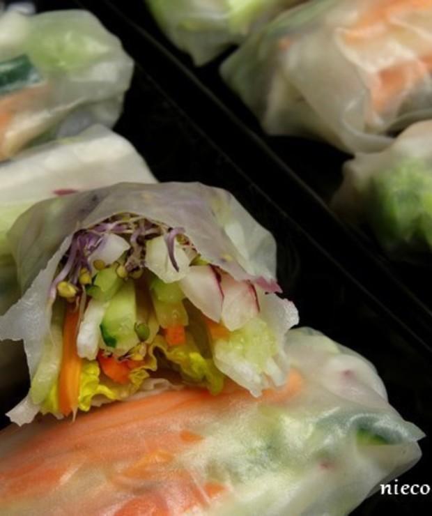 Spring rolls z warzywami - Na zimno