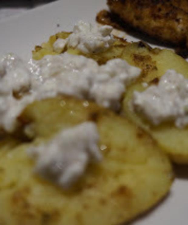 Zapiekane ziemniaczki z gzikiem - Warzywa