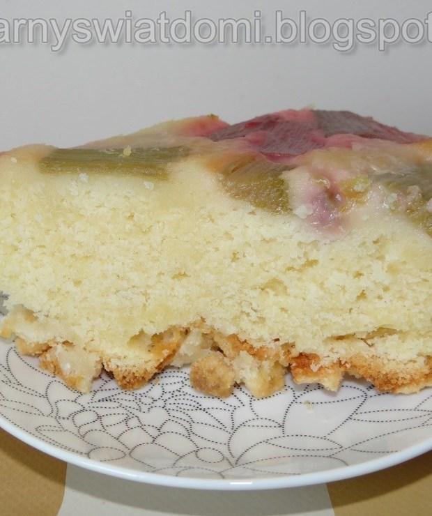 Odwrócone ciasto z rabarbarem - Ucierane