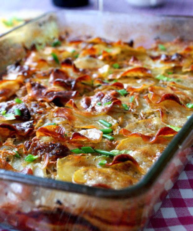 Ziemniaki boulangère (pieczone w bulionie) - Dodatki