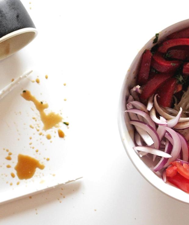 Makaron z warzywami i tofu na zimno - Dania z makaronu
