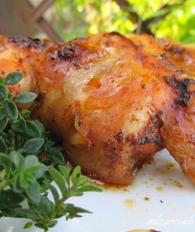 Pieczone udka z kurczaka - Drób