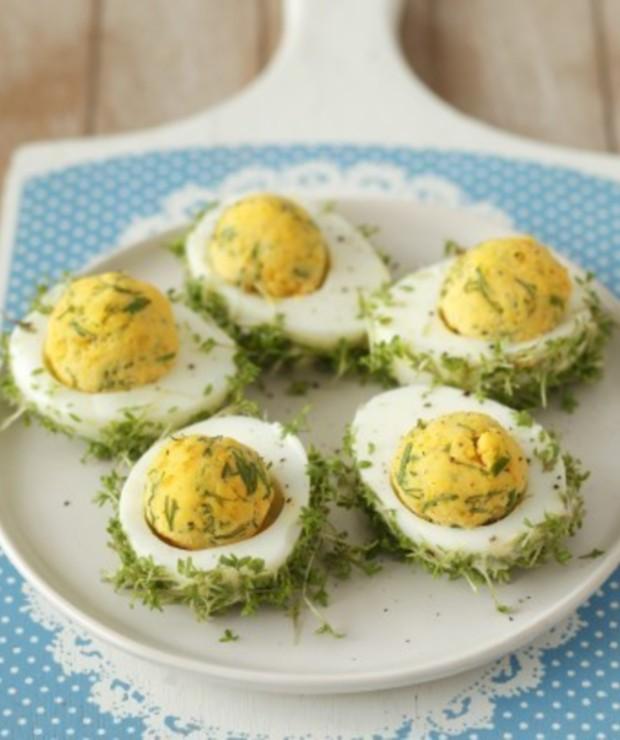 Jajka faszerowane z rzeżuchą - Jarskie