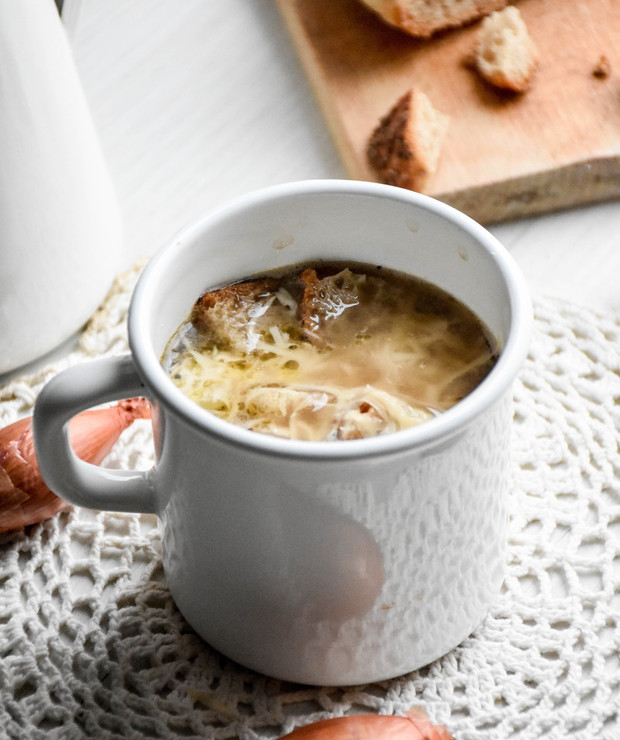 Zupa cebulowa - Z warzywami