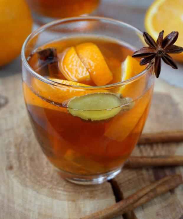 Zimowa herbata z pomarańczą i imbirem - Gorące