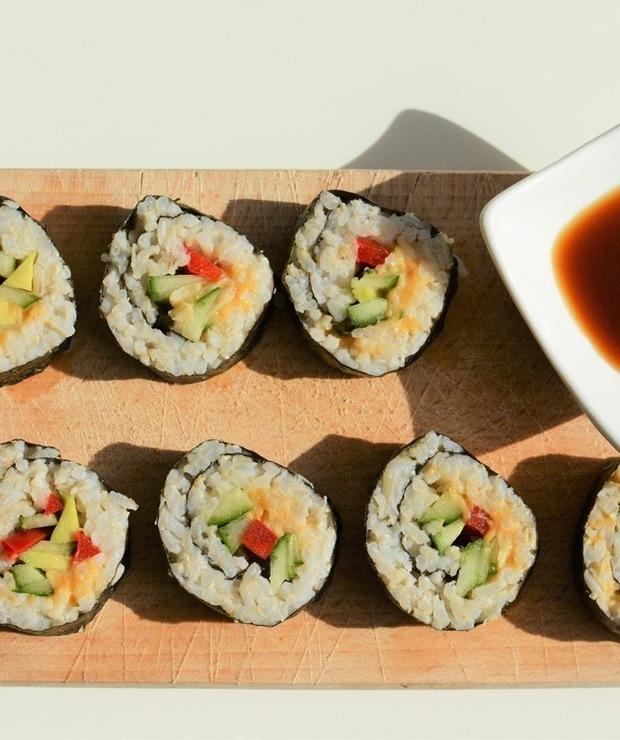 Wegańskie Sushi z awokado - Dania z ryżu i kaszy