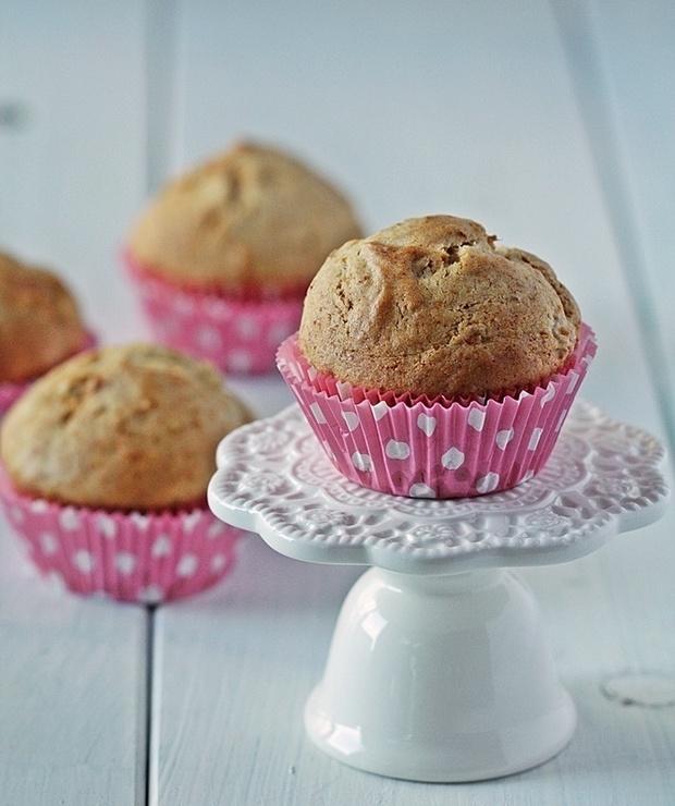 Wegańskie muffiny bananowo-klonowe (bez cukru) - Muffiny i babeczki