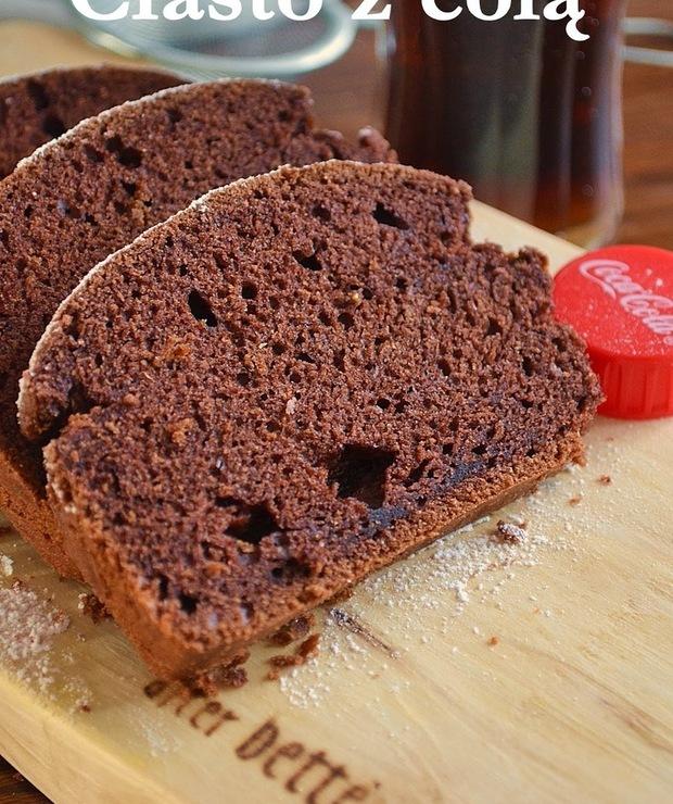 Ciasto czekoladowe z coca-colą, bez jajek - Ucierane