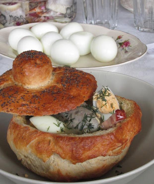 Domowy chlebek do żurku. - Z mięsem