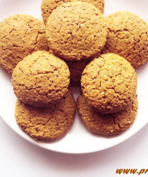 Ciastka z melasą z morwy i z wiórkami kokosowymi ( bez glutenu i masła ) - Bezglutenowe