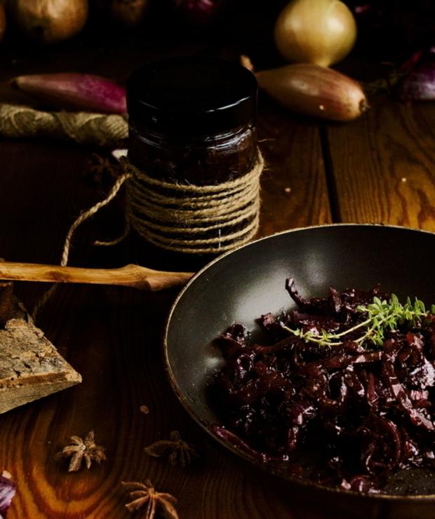 Konfitura z czerwonej cebuli. Cebulowy chutney - Warzywne