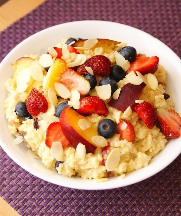 Kasza jaglana z owocami - Dania z ryżu i kaszy