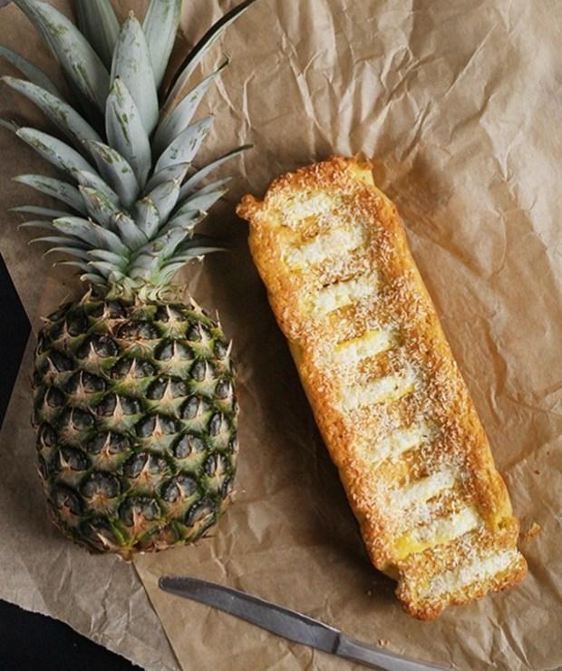 Ciasto z mąki kokosowej z ananasem | FIT ciasto - Desery i ciasta