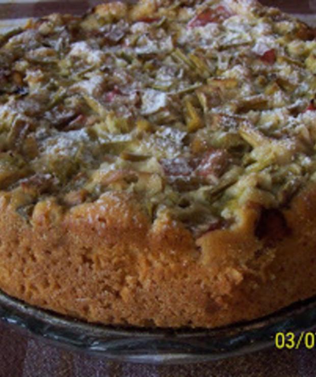 Ciasto z rabarbarem - Ucierane