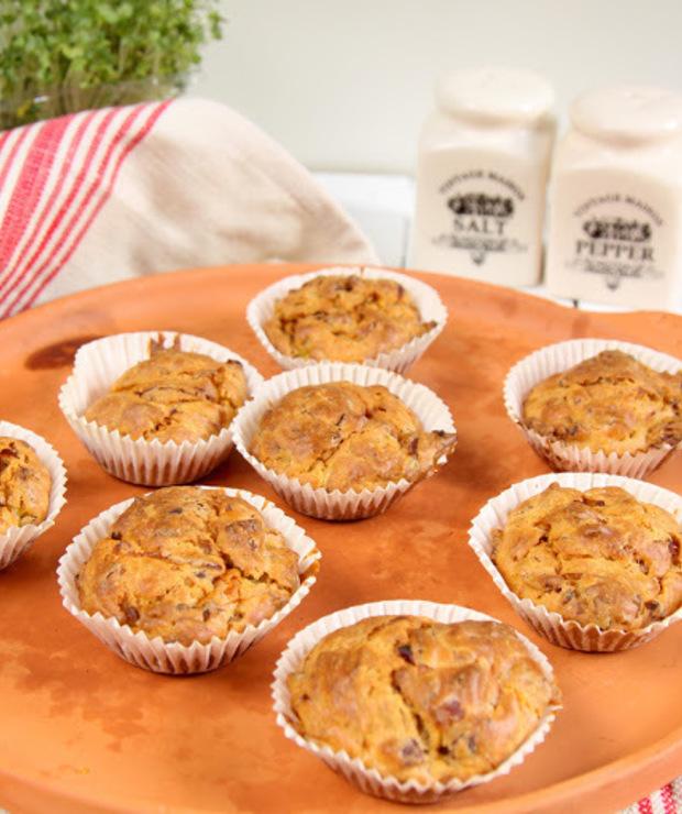 Muffinki z porem i boczkiem - Na zimno
