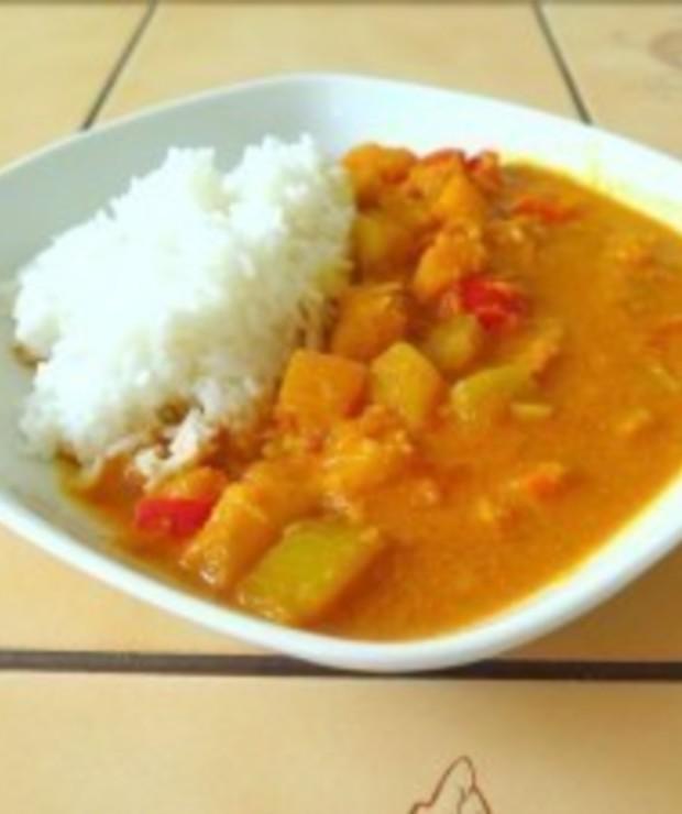 Dyniowe curry z cukinią - Dania z ryżu i kaszy