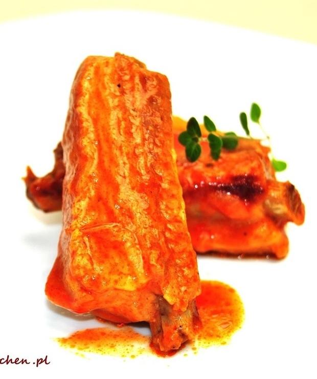 Żeberka duszone w pomidorach - Wieprzowina