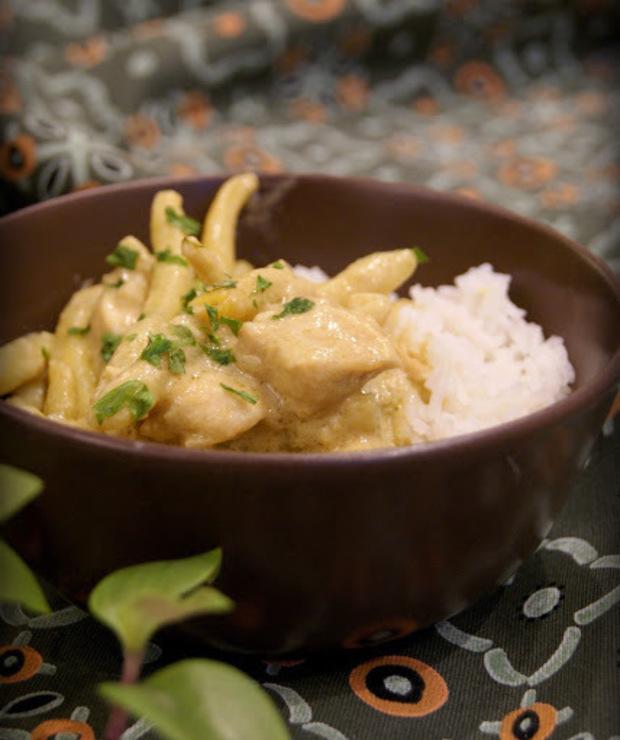 Kurczak curry z fasolką szparagową i ryżem - Dania z ryżu i kaszy