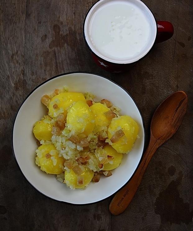 Okraszone ziemniaki z maślanką - Warzywa