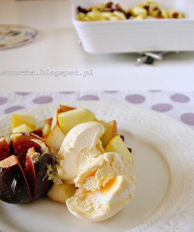 Owoce zapiekane w piekarniku z miodem i cytryną - Na gorąco