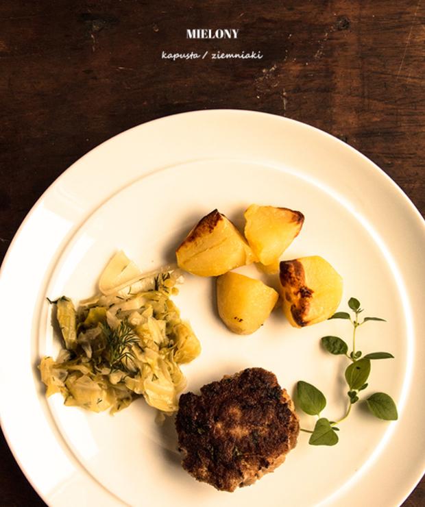 Klasyczny obiad. Mielony, kapusta i ziemniaki - Inne
