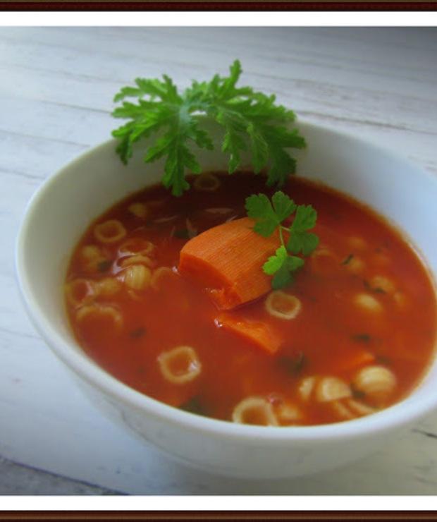 Zupa Pomidorowa na Bazie Mojego Przecieru Pomidorowego  - Z warzywami