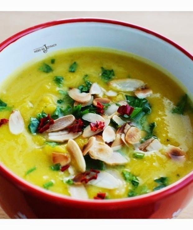 Zupa z pieczoną dynią i mleczkiem kokosowym - Kremy