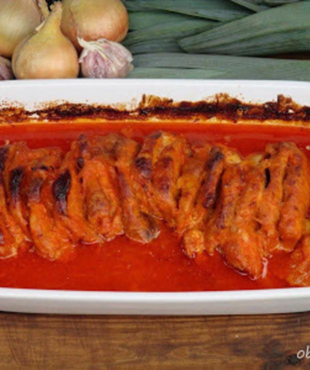 Schab pieczony w ketchupie i majonezie - Wieprzowina