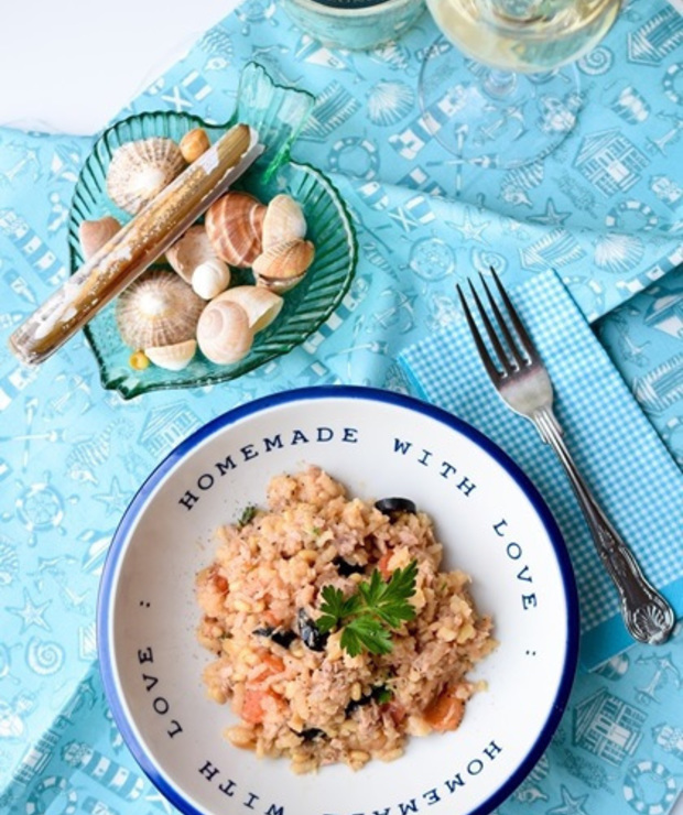 Risotto z tuńczykiem i orzeszkami piniowymi - Dania z ryżu i kaszy