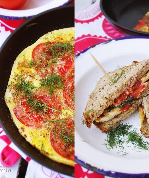 Frittata z pomidorami i ziołami - Jajka i omlety