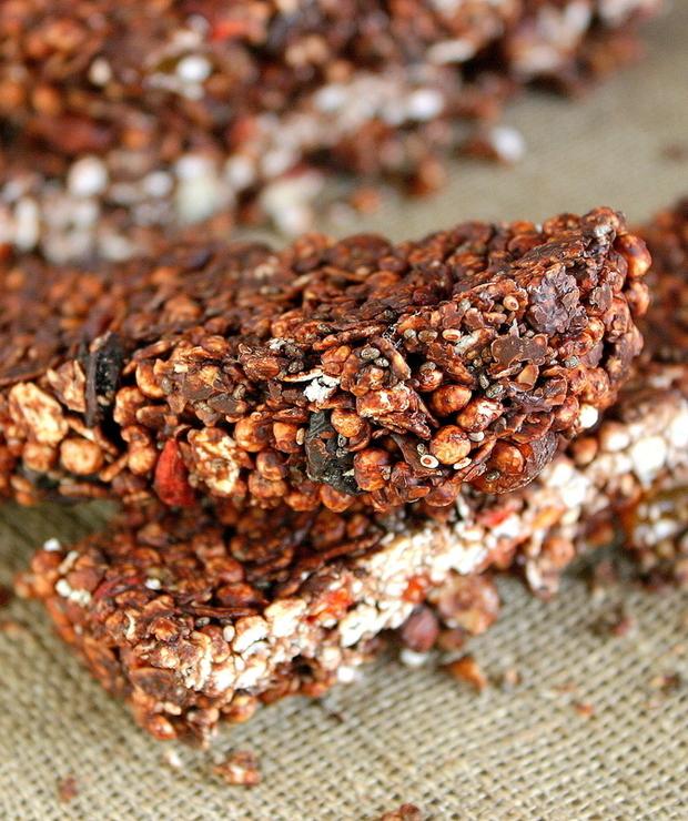 Proste batoniki czekoladowe bez pieczenia - Przystawki i przekąski