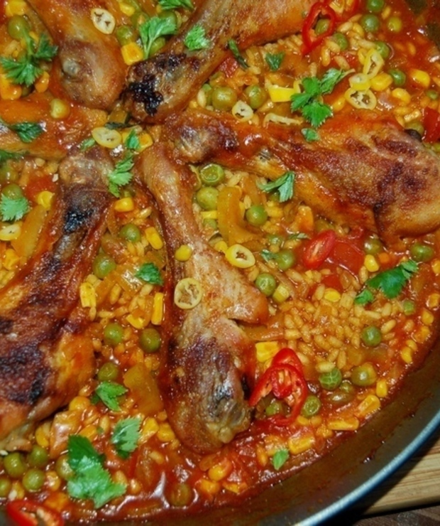 Efekciarska , paella z kurczakiem - Dania z ryżu i kaszy