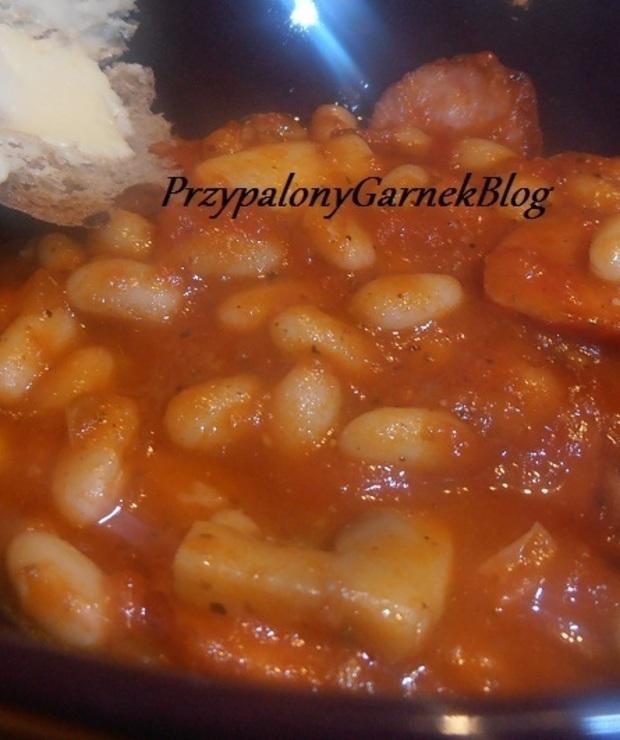 Fasolka błyskawica w pomidorach - Wieprzowina