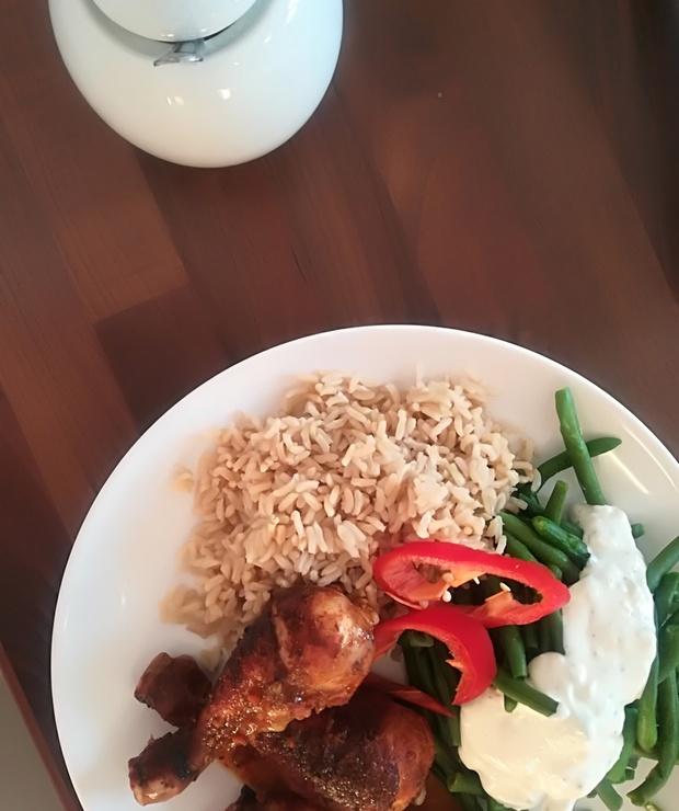 Kurczak z ryżem i fasolką szparagową - Drób