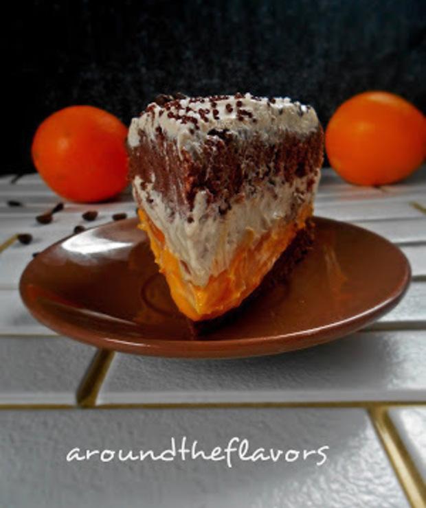 Tort kawowo pomarańczowy  - Torty