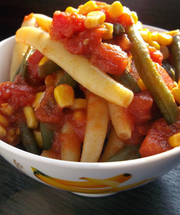 Fasolka szparagowa w pomidorach - Warzywa