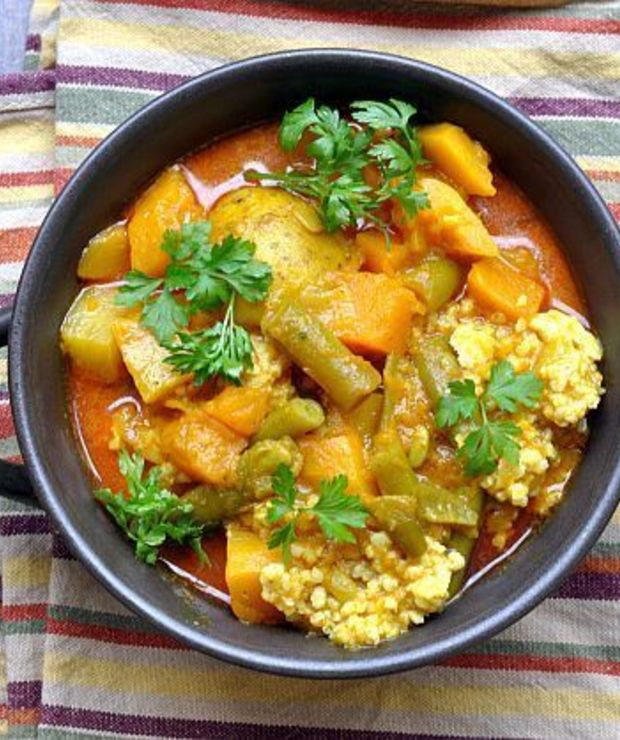 Wegetariańskie curry z dynią - Dania z ryżu i kaszy