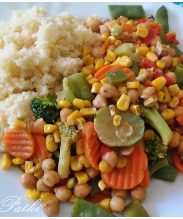 Kuskus z warzywami - Warzywa