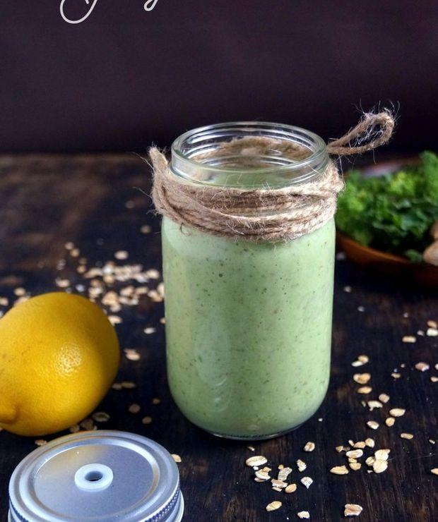 Zielone smoothie z owsianką i jabłkiem  - Inne