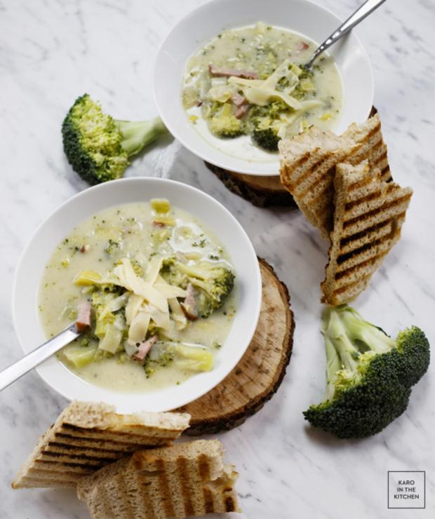 Kremowa zupa brokułowa – fit i ze smakiem - Z warzywami