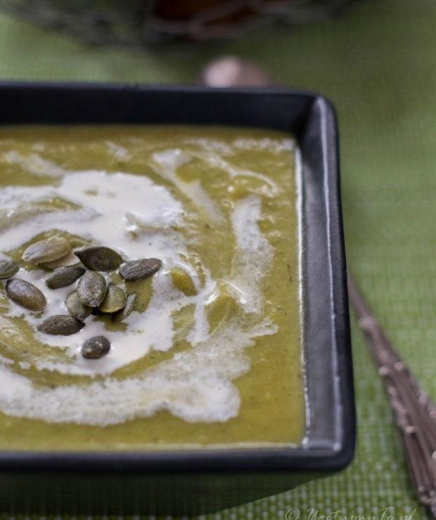 Krem z pora, ziemniaków i jarmużu - Kremy