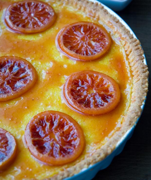 Tarta z czerwonych pomarańczy - Kruche