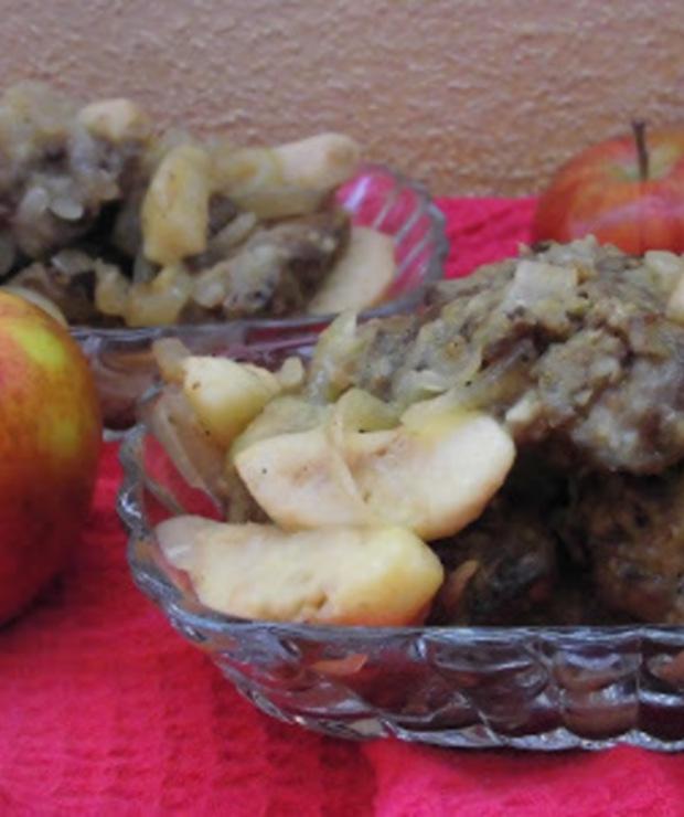 Wątróbka z jabłkiem i cebulką - Drób