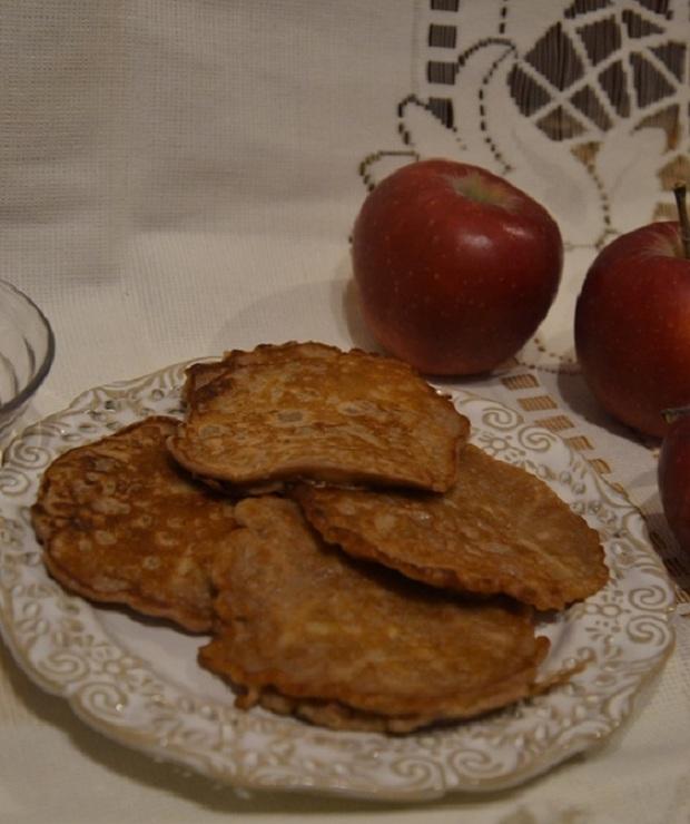 Placki z kakao i jabłka - Placki i placuszki