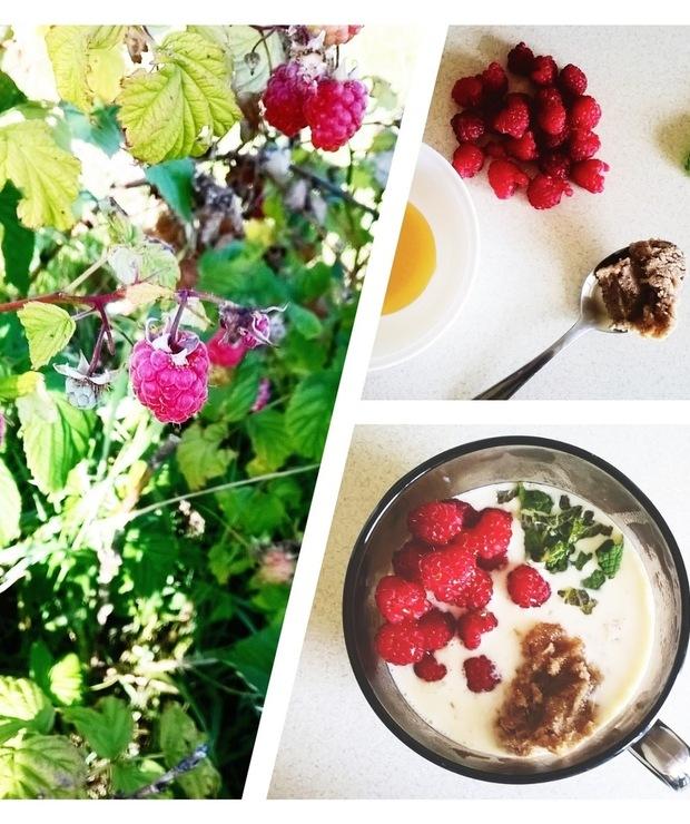 Owsianka z malinami i miętą / Porridge with raspberries and mint - Musli i podobne